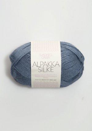 salg af Alpakka Silk due blå 6052