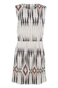 salg af b-young kjole i kit farvet med møns