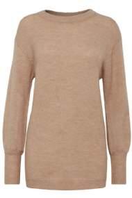 salg af Trøje bluse i strik brun b-young