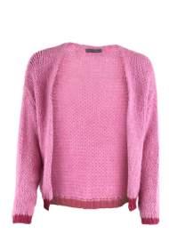 salg af Black colour cardigan i Pink med glimmer kant på ærmet