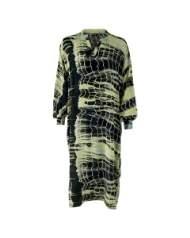 salg af Black Colour kjole i Batik i grønne farver