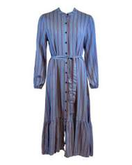 salg af Black Colour Kjole i blå med strib
