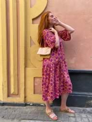 salg af Black colour kjole i pink Multi