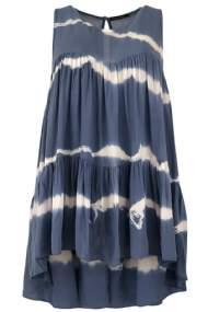 salg af Black colour top i batik i blå farver