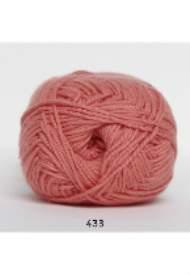 salg af Cotton 8 coral farvet 100% bomuld til pind 2,5-3