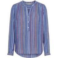 salg af Dagny skjorte i Multi farvet med blå bund