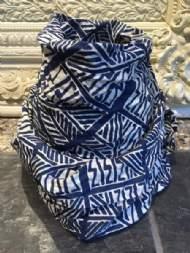 salg af Dagny tørklæde i blå bomuld