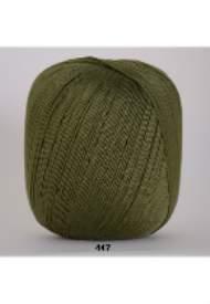 salg af Hækle garn nr. 5 Mørk Grøn