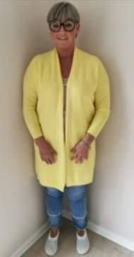 salg af Janne K Cardigan i gul