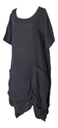 salg af Janne K Hør kjole i grå