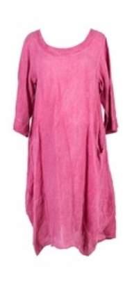 salg af Janne K Hør kjole i Hindbær rød