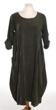 salg af Janne K Lang Fløjls kjole i grøn