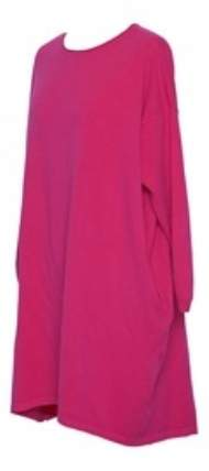 salg af Janne K over size tunika i Pink strik