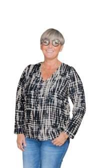 salg af Janne K skjorte bluse i sort/crem