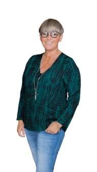 salg af Janne K Skjorte bluse i sort-petrol