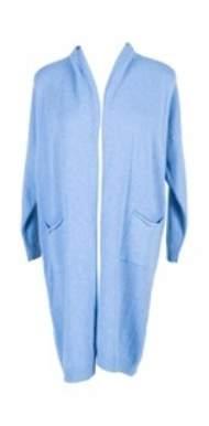 salg af Janne k strik cardigan i blå