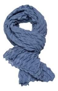 salg af Janne K tørklæde i creppet blå