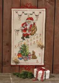 salg af Julekalender Julemand v.trappe fra Permin