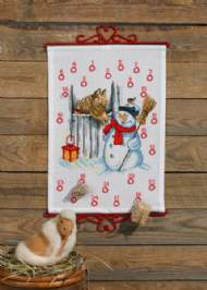 salg af Julekalender med snemand og hest