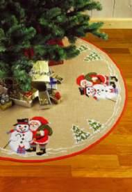 salg af Julemand/Snemand juletræstæppe Permin