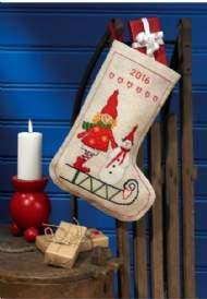 salg af Julesok Nissepige & snemand sok fra Permin