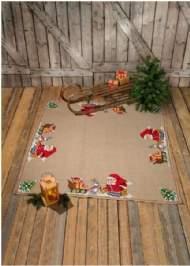 salg af Juletræstæppe med julemand og dyr