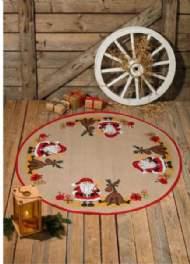salg af Juletræstæppe med julemand og elg