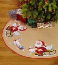 salg af Juletræstæppe med julemand og gæs