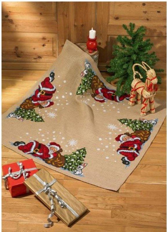 juletræstæppe broderi tilbud