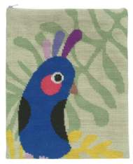 salg af Kakadue på grøn bund I-pad taske