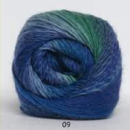 salg af Kunstgarn - blå/grøn meleret