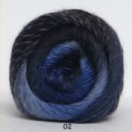salg af Kunstgarn - blå meleret