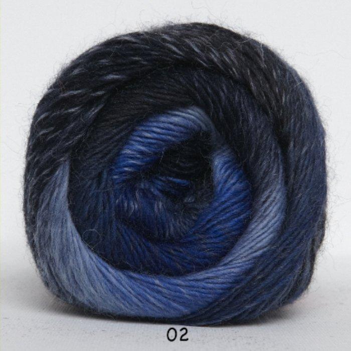 Kunstgarn - blå meleret - Online salg af Kunstgarn | Håndarbejdshuset & Medy