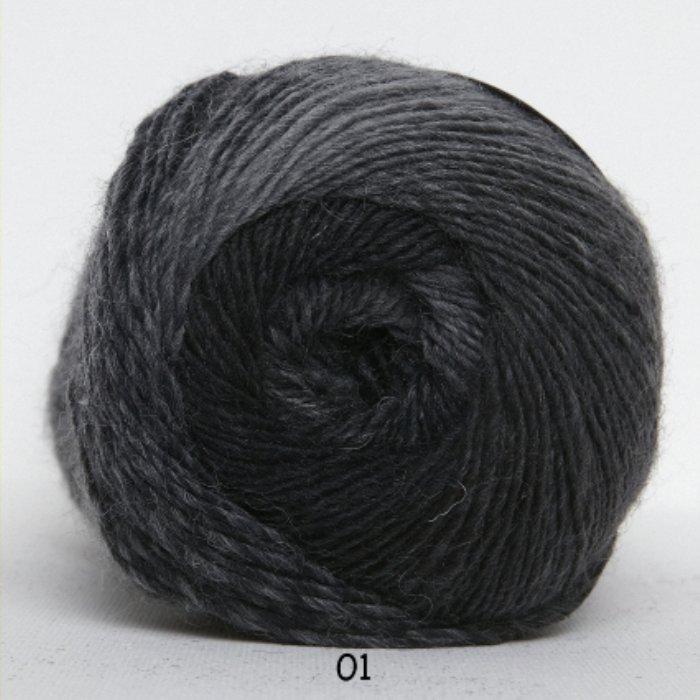 Kunstgarn - grå/sort meleret - Online salg af Kunstgarn