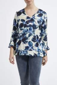 salg af Lau-rie bluse-tunika i blå blomst