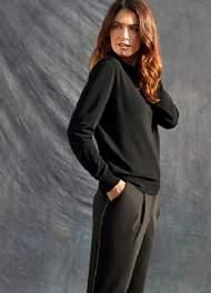 salg af Lau Rie Emma bukser sort med metal kant
