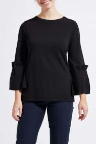 salg af Lau- Rie sort jersey top med smukke ærmer