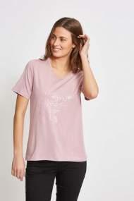 salg af Lau Rie T-Shirt i Rosa med print