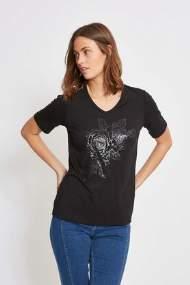 salg af Lau Rie T-Shirt i Sort med print