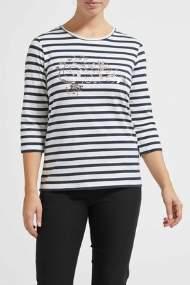 salg af Lau Rie T-shirt med strib i blå