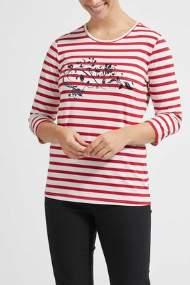 salg af Lau Rie T-shirt med strib i rød