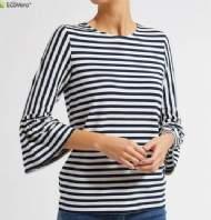 salg af Laurie Ada Bluse - Navy Stripe