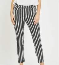 salg af LauRie Hannah Regular Crop - Black White Stripe