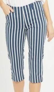 salg af LauRie Kelly Regular Capri - SL - Navy/Ecru Stripe