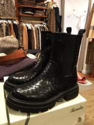 salg af Marta Flet støvle med lynlås