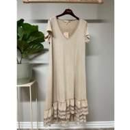 salg af Marta kjole i crem farvet med blonde