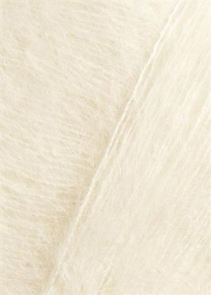salg af Mohairgarn med silke i hvid  fra SandersGarn