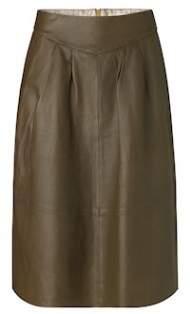 salg af Noa noa lamme skind nederdel i oliven grøn