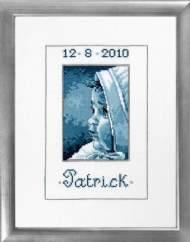 salg af Broderi Dåbsbillede til pige og dreng - Patrick