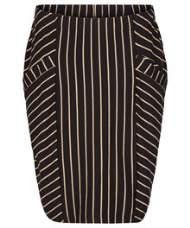 salg af Pep Nederdel i sort med striber